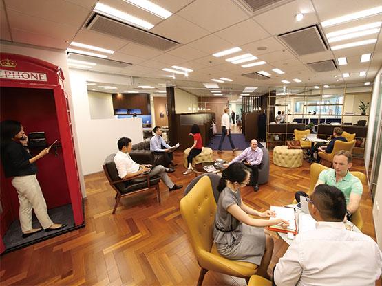 東京都渋谷区にあるコワーキングスペース サーブコープ恵比寿ガーデンプレイスタワーコワーキングスペース