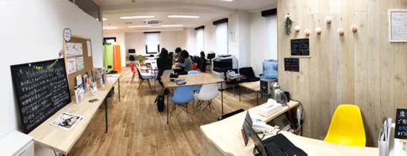 神奈川県横浜市西区にあるコワーキングスペース シェアスペースyokohamahop(ヨコハマホップ)