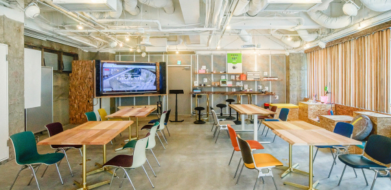 東京都渋谷区にあるコワーキングスペース FabCafe MTRL(マテリアル)