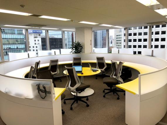 大阪府大阪市北区にあるコワーキングスペース Busico. Joe's Workspace(ビジコ)