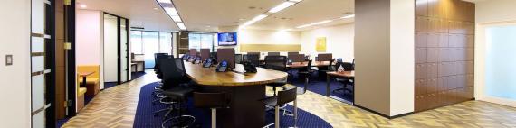 大阪府大阪市西区にあるコワーキングスペース サーブコープ江戸堀センタービルコワーキングスペース